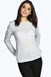 Sookie Patterned Soft Knit Jumper from #Boohoo on discounted price. Use promotional Codes and coupon Codes.