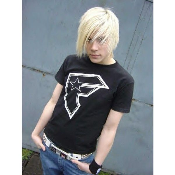 Blonde emo guy image by shikari001 on Photobucket ❤ liked on Polyvore featuring people, boys, guys, emo and emo boy