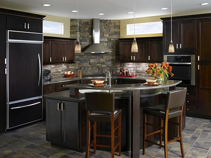 Kitchen Example Displaying The Armstrong Cabinet Style Arborcrest With The  Espresso Finish