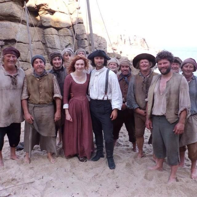 #AidanTurner #EleanorTomlinson and  #Poldark cast  #bts  #Cornwall. #PoldarkPBS Photo credit: twinkletash