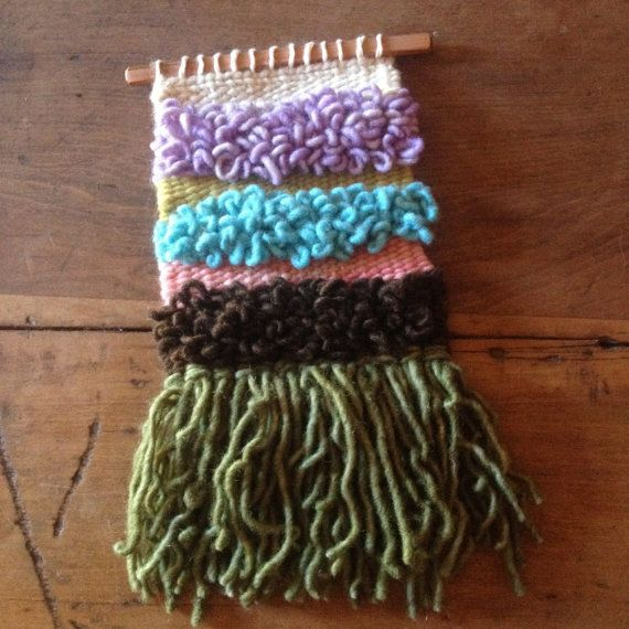 Textured Woven Wall Hanging by handspunandweaving on Etsy