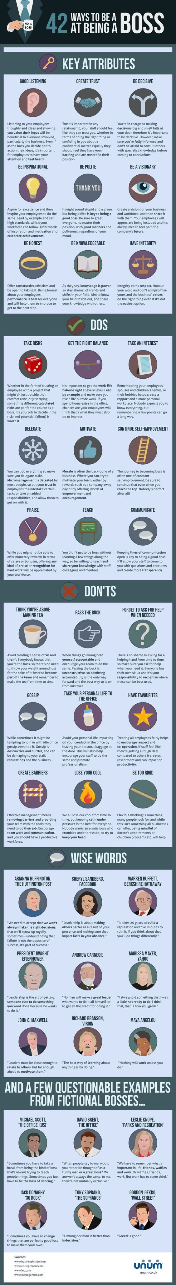 42 Ways to be a Boss at Being a Boss.