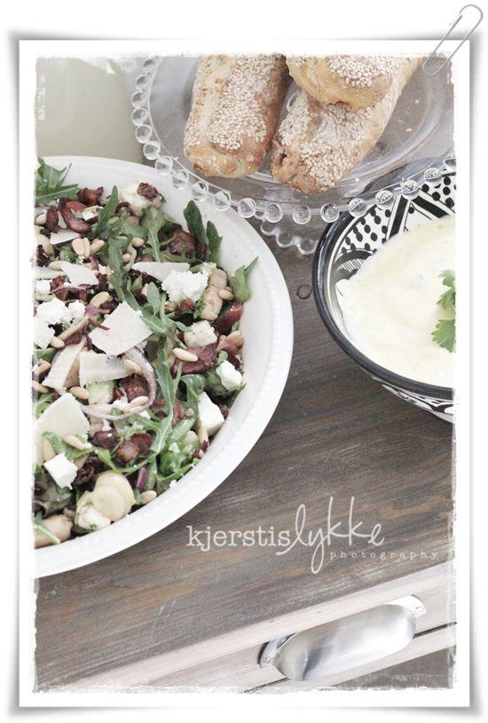 Pasta - Lettuce (Rucola ao) - bacon - avokado - parmesan ...