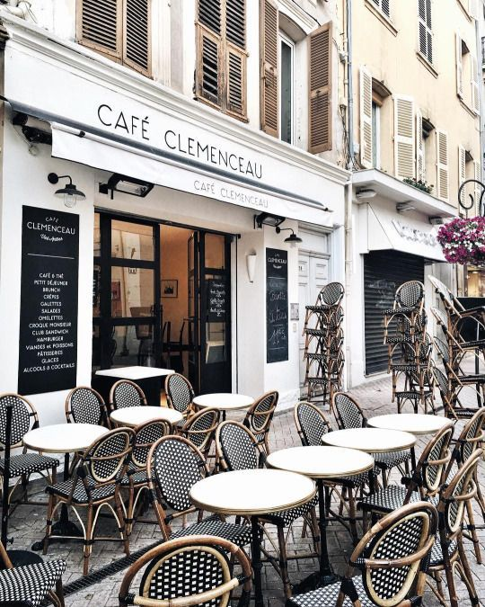 is there anything quite as pretty as a french cafe? - Vicki Archer //   https://www.instagram.com/vickiarcher/