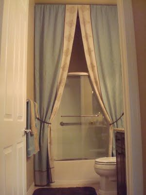 Bunny Jeans Decor and More: I Made A Ten Foot Tall Shower Curtain!