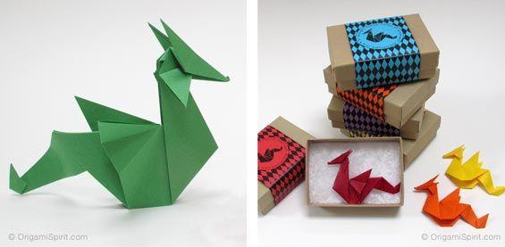 Post image for Dragón en origami -Fácil y rápido, perfecto para un broche