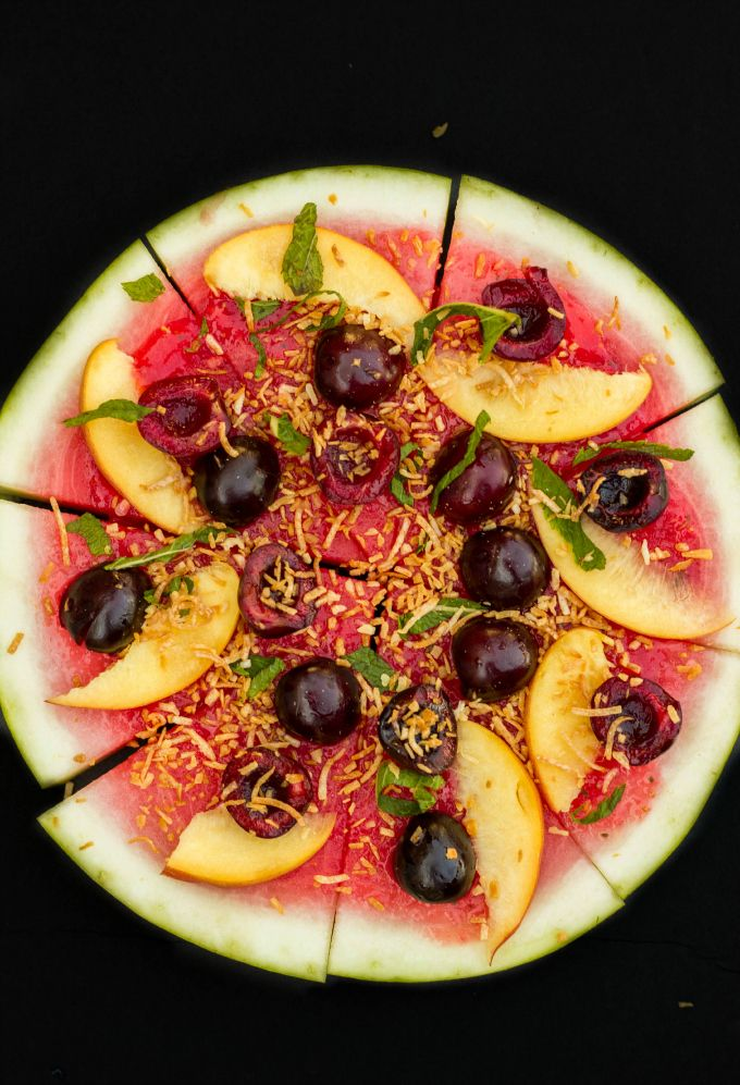 Vegan Watermelon Pizza Dessert Recipe