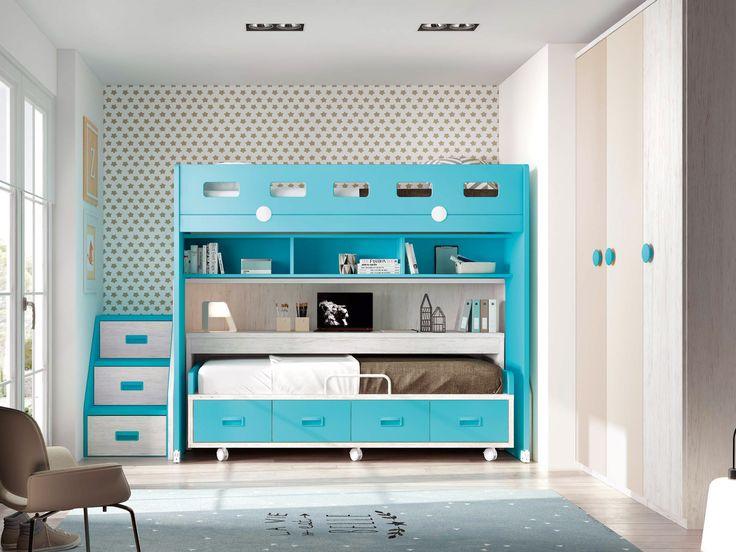 lit superposé garçon - GLICERIO - SONUIT #interiordesign #homedecor #modern #design #decorationideas #roomdecor #room #chambreenfant