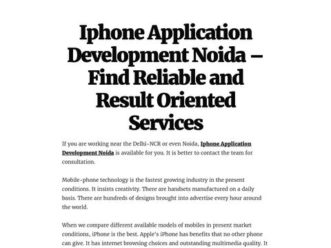 Iphone Application Development Noida – Find Reliable and Result Oriented Services