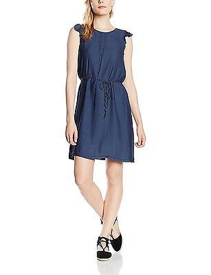 8, Blue - Blau (NAVY 400), ESPRIT Women's Fließend Dress NEW