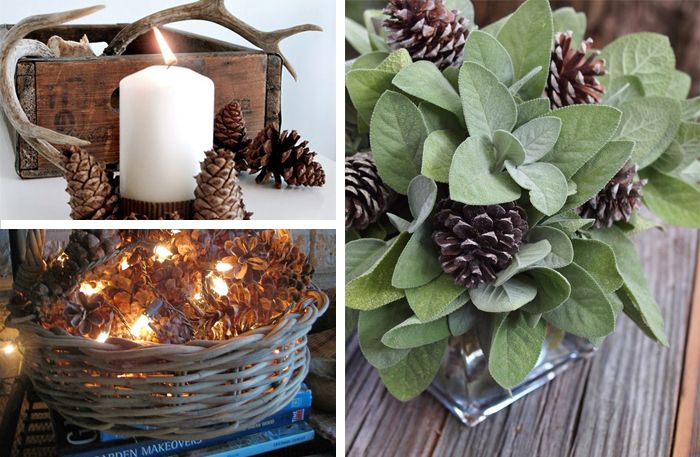 19 ways to decorate with pinecones