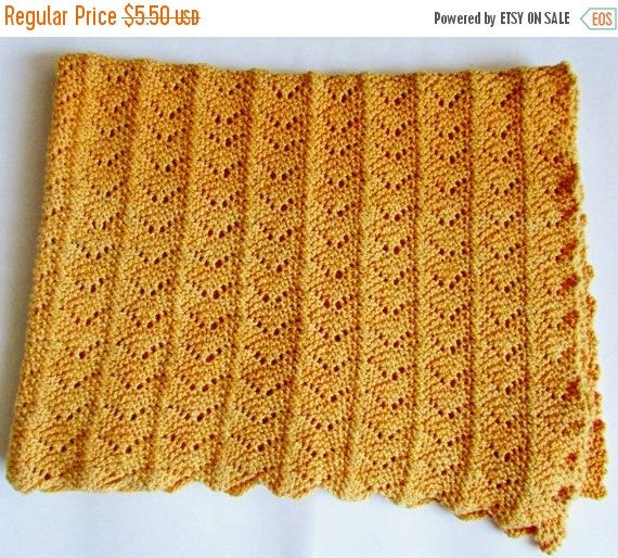 ON SALE Lacy Summer Baby Blanket Knitting by BiggerthanlifeKnits