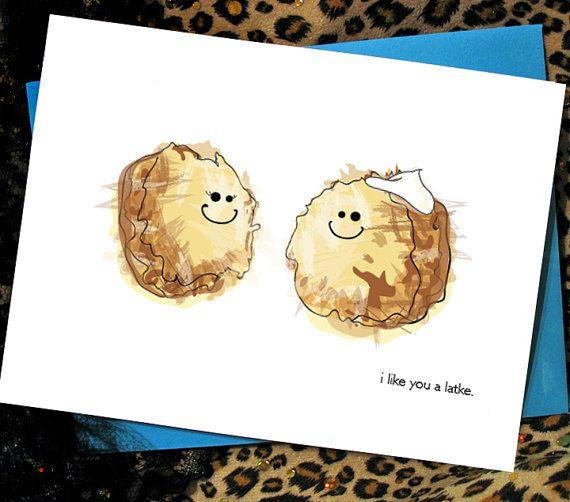 39 best hanukkah cards images on pinterest hanukkah cards potato latke love card m4hsunfo