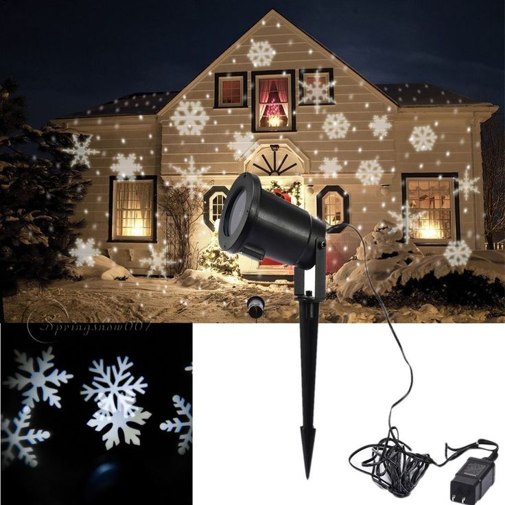 Moving Sparkling LED Snowflake Landscape Laser Projector Wall Lamp Xmas Light #Unbranded