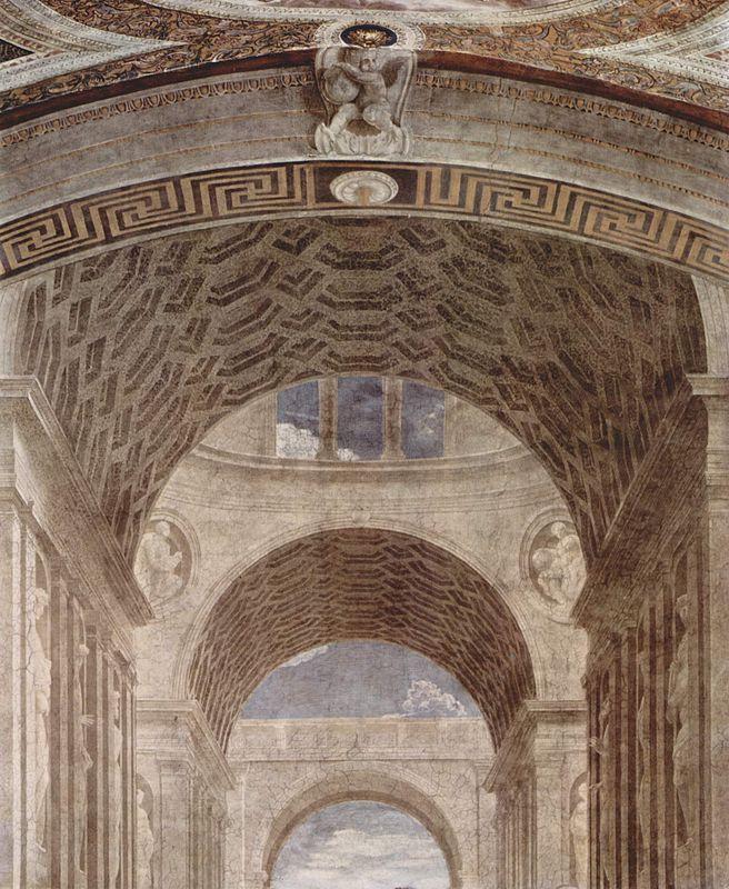 Musei Vaticani - Stanze di Raffaello. Stanza della Segnatura. The school of Athens (Architecture-Detail)