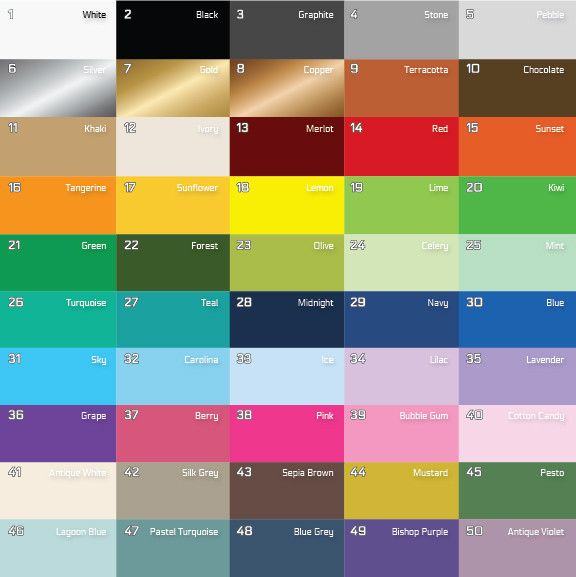 Easy Stripe Color Chart