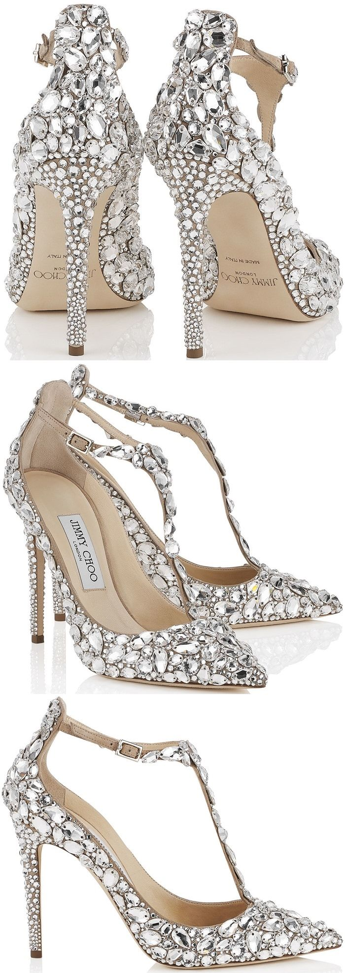 """Crystal-covered Jimmy Choo """"Storm"""" pumps"""