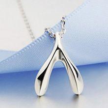 Deseja colar de osso - New Hot venda coreano personalidade de Metal forma de osso colar de jóias(China (Mainland))