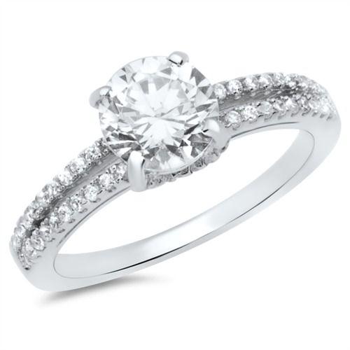 Hochwertiger Verlobungsring Silber Zirkonia VR0030SL