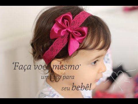 Laço de cetim passo a passo para compor acessórios infantis. Conheça o blog www.inventare.com.br
