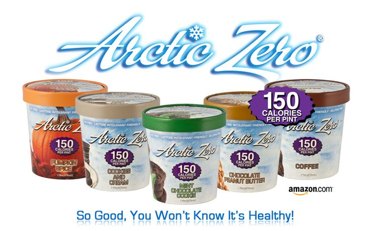 If you haven't heard of Arctic Zero Frozen Desserts yet, you are seriously missing out. 150 calories per pint. They are protein shakes in ice cream form!