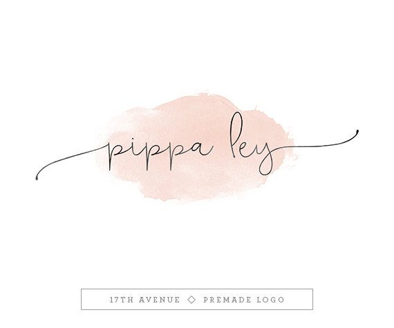Premade Logo Design - Logo aquarelle - photographie Logo - Logo Boutique - Small Business Logo - « Pippa » Deluxe