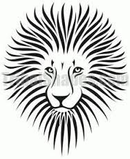 Image result for images of easy sketches of fierce lions