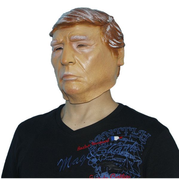 X-MERRY TOY Donald Trump Costume Mask Halloween Realistic Latex Cheap Mask
