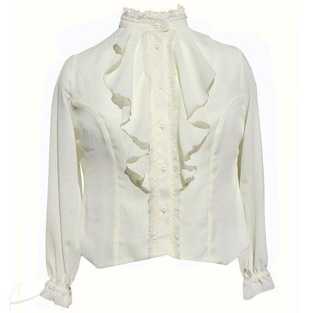 Bluzka z żabotem i ozdobną gumką plus size. Do zamówienia w dowolnym kolorze w butiku Łatka fashion.
