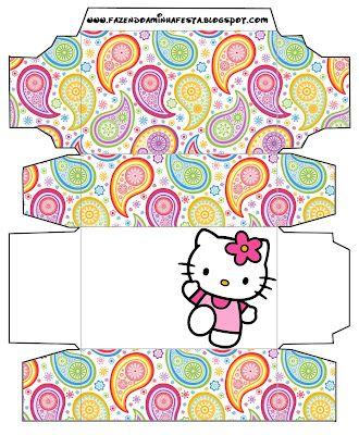 Hello Kitty: Free Printable Boxes.