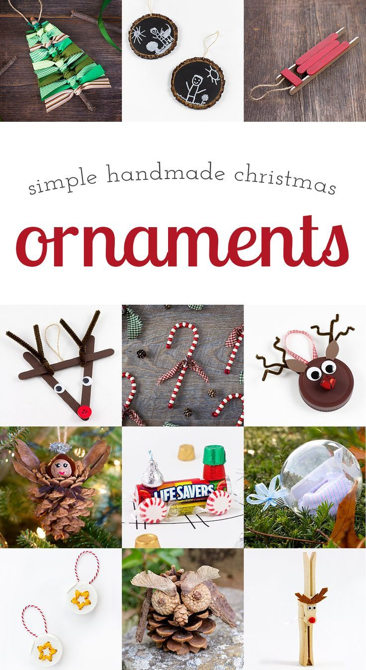 A collection of simple handmade ornaments that are popular with crafters of all ages. A thoughtful, colorful addition to any Christmas tree! via @https://www.pinterest.com/fireflymudpie/