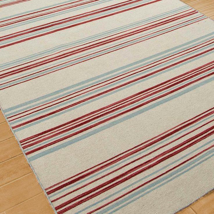 homeland stripe dhurrie rug red white blue dhurrie rugs flat weave area rugs. Black Bedroom Furniture Sets. Home Design Ideas
