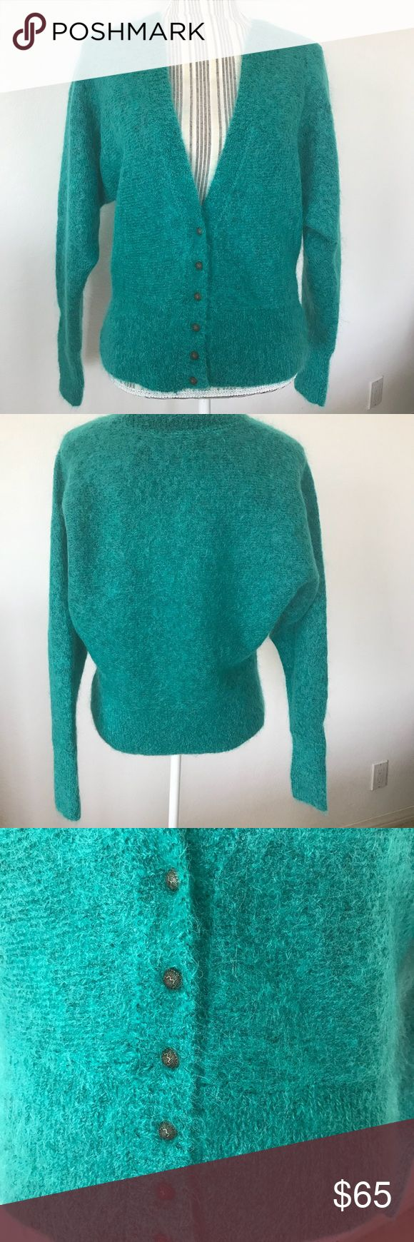 NWT Free People Turquoise Cardigan Turquoise cardigan with extra button. Free People Sweaters Cardigans
