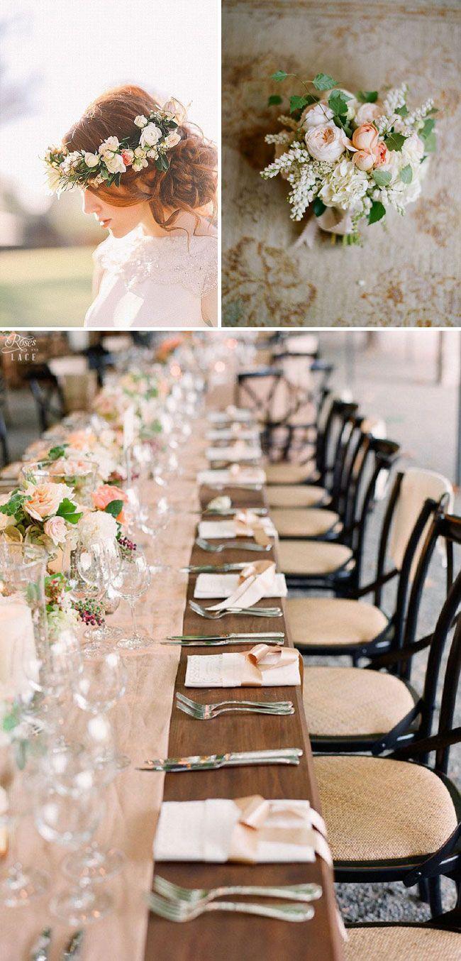 Spring Wedding Inspiration: Soft Peach, Gold & Green | http://www.rosesandlace.co.uk/soft-peach-gold-wedding-inspiration/