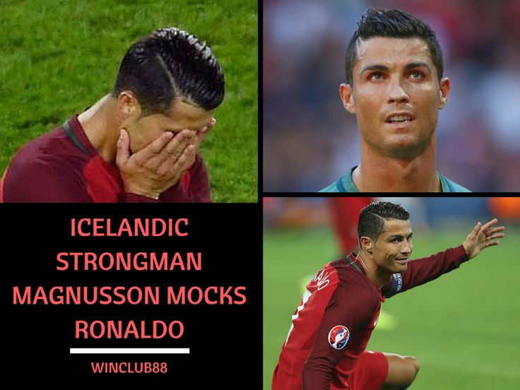 ‪#‎Icelandic‬ former World's Strongest Man ‪#‎MagnusVerMagnusson‬ has hit back at ‪#‎CristianoRonaldo‬ in a scathing Facebook post after the ‪#‎Portugal‬ captain criticised the nation in the aftermath of their 1-1 Euro 2016 draw.