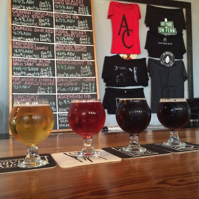 Checking out Angry Chair Brewing. Enjoying some Florida beer in the Seminole Heights neighborhood of Tampa.