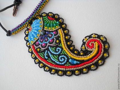 кулон пейсли или турецкие огурцы, украшение ручной работы