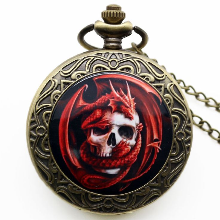Pendant Chain Gift Skull Pocket Watch //Price: $9.99 & FREE Shipping //     #skull #skullinspiration #skullobsession #skulls