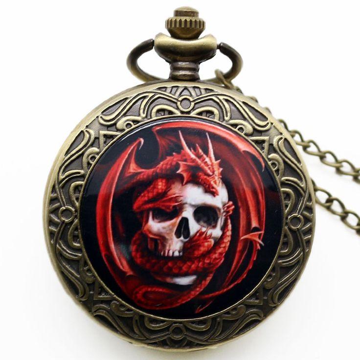Pendant Chain Gift Skull Pocket Watch //Price: $9.99 & FREE Shipping //     #skull #skullinspiration #skullobsession #skulls
