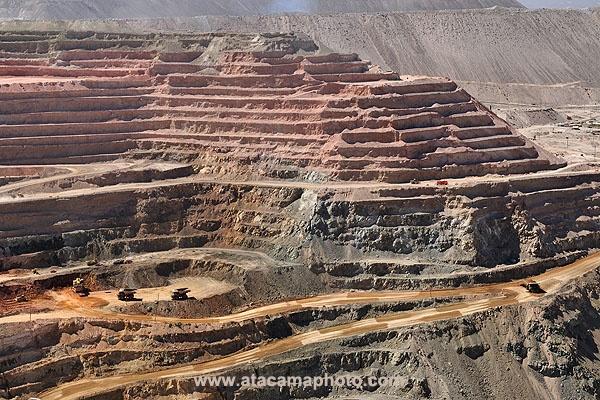 Open pit copper mine of Chuquicamata