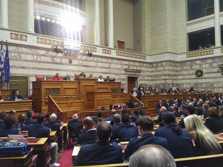 Τιμάμε σήμερα στη Βουλή τους Έλληνες αθλητές και αθλήτριες που συμμετείχαν στους Παραολυμπιακούς Αγώνες Ρίο 2016 #ParalympicGRE