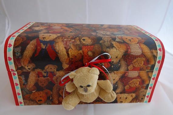 Teddy Bear design treasure chest box