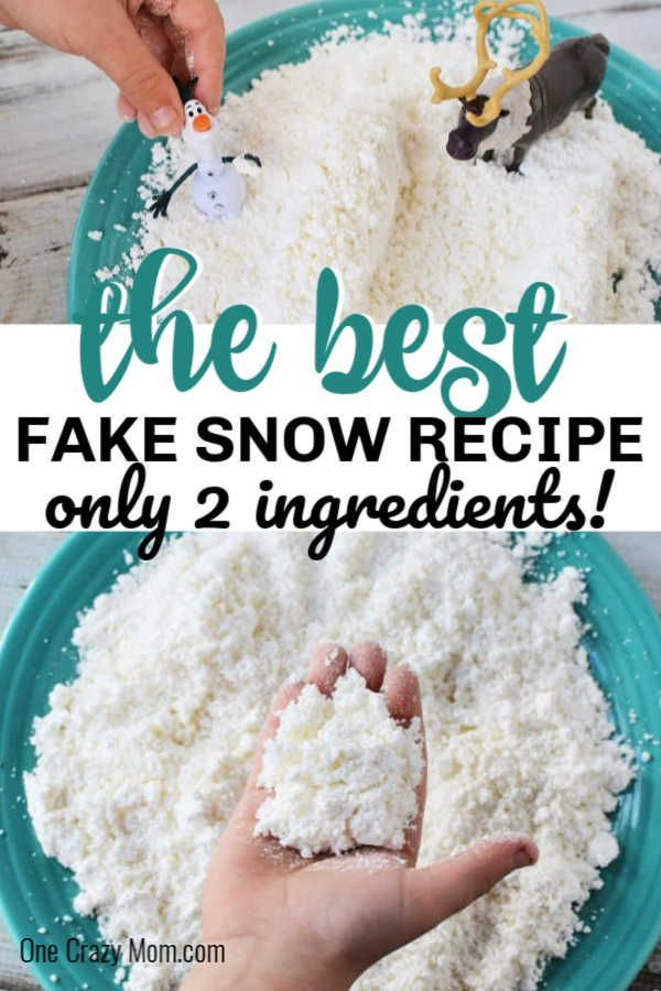 How To Make Fake Snow How To Make Snow In Minutes How To Make Snow Snow Recipe Snow Crafts