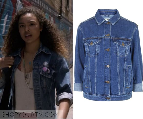Recovery Road: Season 1 Episode 2 Maddie's Dark Wash Denim Jacket