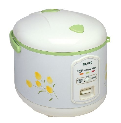 Sanyo ECJ-N55F 5-1/2-Cup Rice Cooker, White with Green Accents and Flower Design by Sanyo, http://www.amazon.com/dp/B000F6V8MI/ref=cm_sw_r_pi_dp_Hgl8qb1M7WKXJ