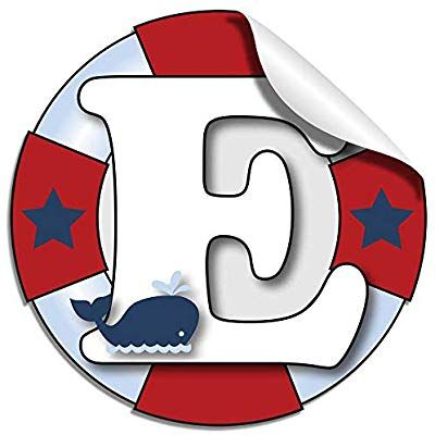 Amazon Com Wall Letters T Nautical Ocean Sailing Red White Blue