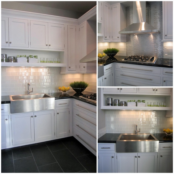 The Beautiful Snow Glass Subway Tile Makes A Wonderful Kitchen Backsplash