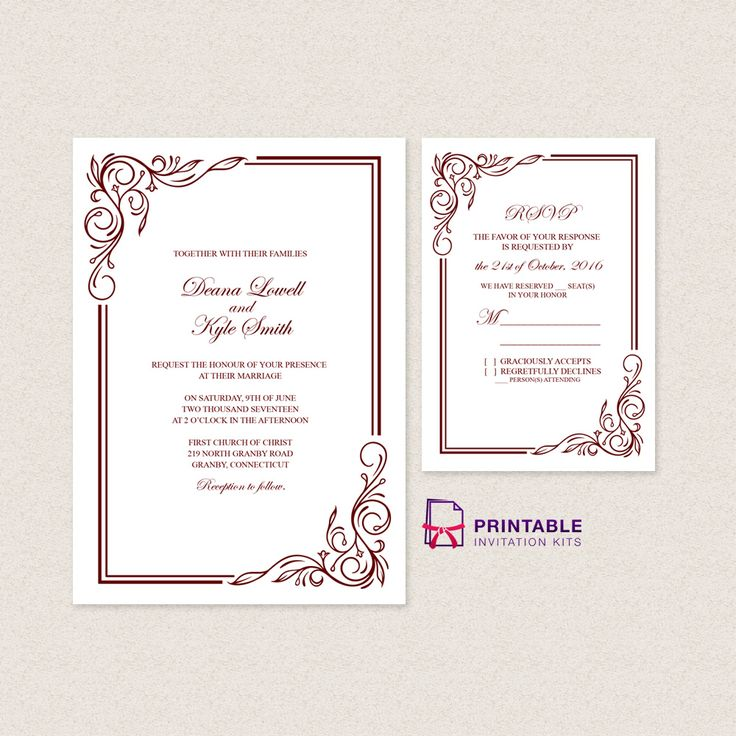 1000+ images about wedding invitation templates (free) on, Wedding invitations