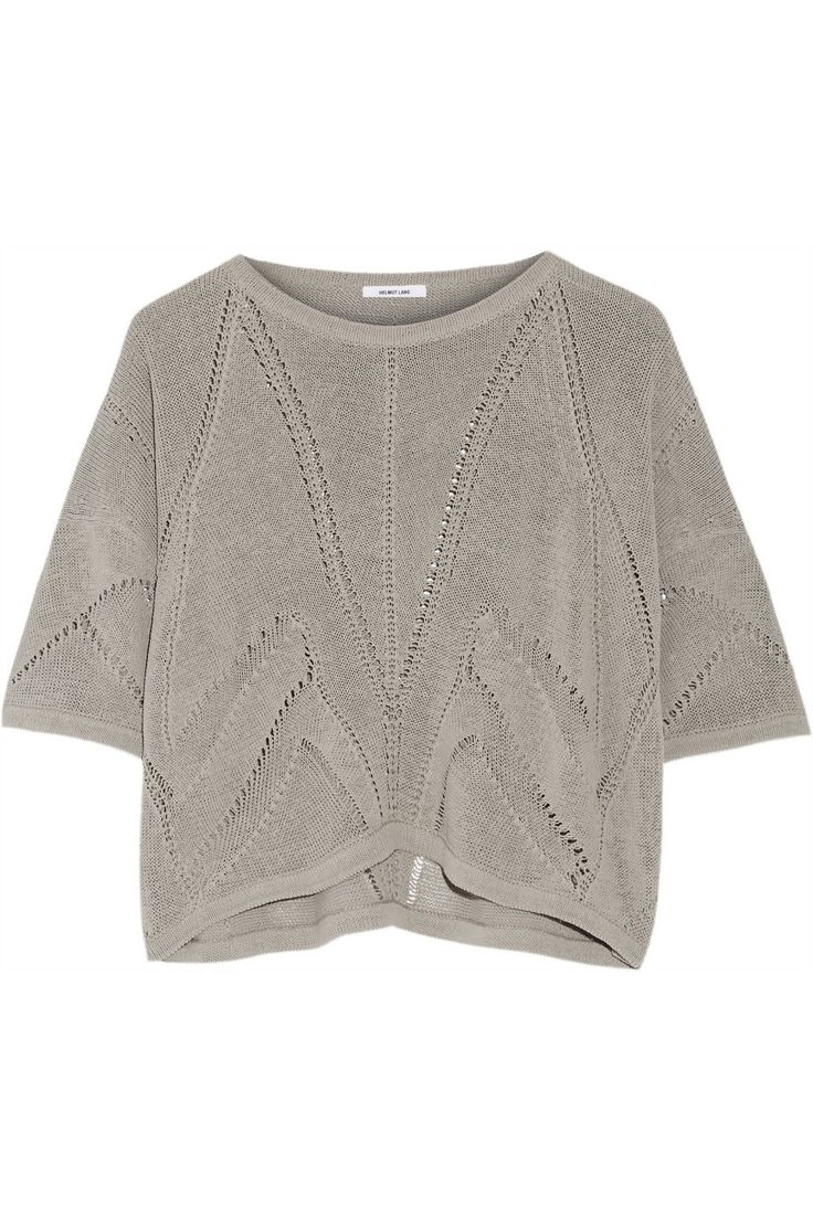 Helmut Lang Cropped knitted linen-blend sweater NET-A-PORTER.COM