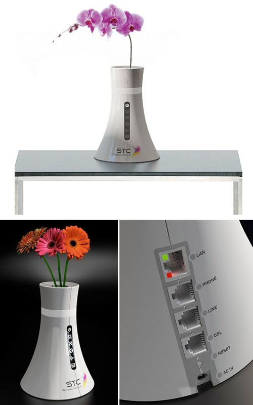 Wireless router vase.  Who says you can't have it all?